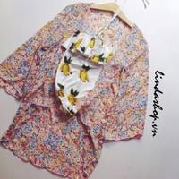 Áo khoác Kimono form dài cao cấp