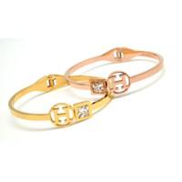 Vòng Hermes đinh hột vuông vàng,vàng hồng - trang sức inox