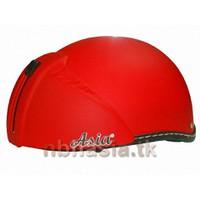 Mũ bảo hiểm kiếng giấu ASIA 105KA Trơn - Đỏ Nhám