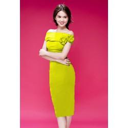 Đầm Hotgirl Rớt Vai Đính Hoa Mã sản phẩm: OLNP827