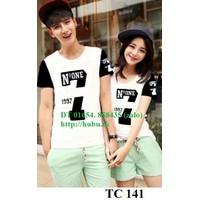 Bộ 2 áo thun đôi nam nữ giá 2 áo size S,M  AT0019