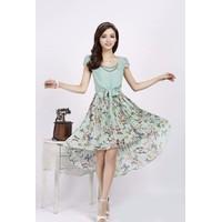 Đầm voan chân váy hoa bướm - DMK080