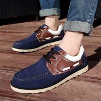 Giày casual nam cổ ngắn phối da Glado - G41
