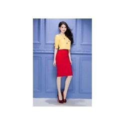 Chân váy bút chì đỏ Ngọc Trinh V018