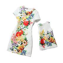 Đầm đôi suông in hoa 3D cho mẹ và bé HGS28