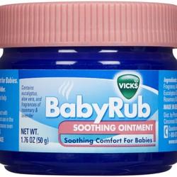 Dầu Bôi Ấm Ngực Giảm Ho Cho Bé Vicks BabyRub