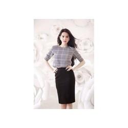 Chân váy đen công sở Ngọc Trinh V020