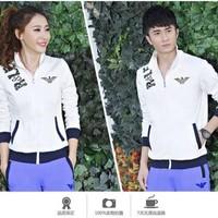 Aó khoác đôi màu trắng logo đẹp from ôm dành cho nam nữ giá rẻ nhất