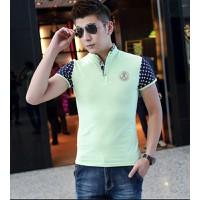 áo thun polo cổ trụ aiqilun design Mã: NT1148 - XANH LÁ