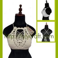 Áo Crop top móc bằng len -  Hadmade