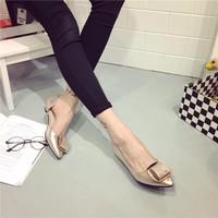 Giày búp bê bạc