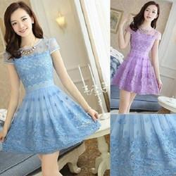 Đầm ren công chúa cao cấp - D673