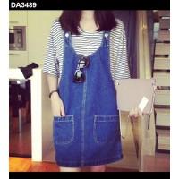 Đầm jeans yếm 2 túi - Mã: DA3489
