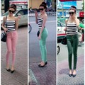 Quần jean skinny color block 3 màu