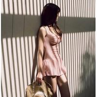 Hàng Nhập cao cấp: Áo bơi một mảnh dạng váy BK36 Màu Hồng phấn