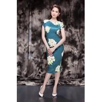 Đầm Ngọc trinh ôm body hoa 1011