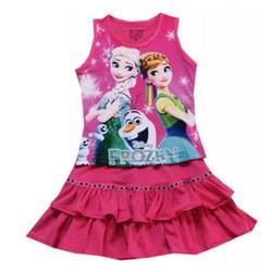 Bộ Váy Công Chúa Elsa Có Quần Chip