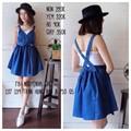 Yếm váy xanh chéo lưng kèm áo - 155.000 VNĐ