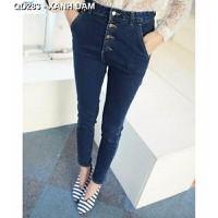 Quần jeans dài lưng cao Mã: QD283 - XANH ĐẬM
