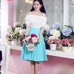 Chân váy Ngọc Trinh chất liệu cát giấy cao cấp Có Bảo Hành