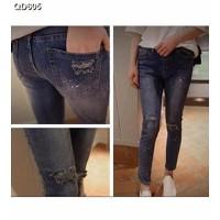 Quần jeans skinny rách cá tính Mã: QD605