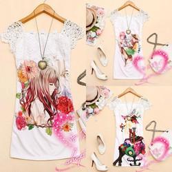 Đầm suông in hình Girl BD35-HÀNG Y HÌNH