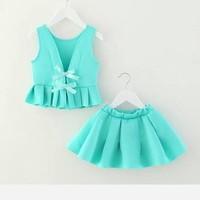 Bộ áo váy sành điệu mùa hè vải cát giấy đẹp xinh