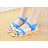 XinhShop - Giày sandal 2 dây phối màu  xinh xắn