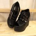 Giày Sandal Đế Xuồng Bằng Da Cao Cấp G716