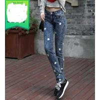 Quần jeans skinny túi đính hạt Mã: QD610