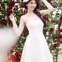 Đầm cúp xòe cao cấp Ngọc Trinh