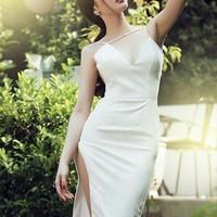 Đầm body hai dây thiết kế váy xẻ đẹp quyến rũ eDDNC9