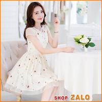 Shop ZALO - HÀNG NHẬP - ĐẦM REN XÒE CAO CẤP D0105