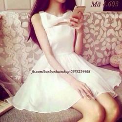 hotgirl 507 váy xòe trắng