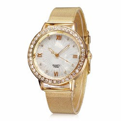 Đồng hồ dây vàng mặt trắng 01