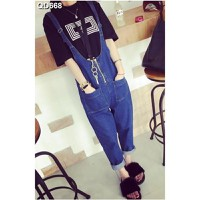 Quần jeans yếm dây kéo Mã: QD668