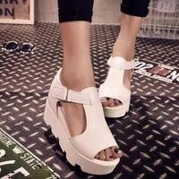 Giày sandal bánh mì chữ T dây dán
