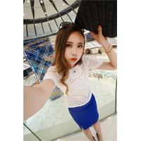 Set áo và chân váy cao cấp HongKong YW529