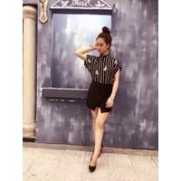 HÀNG NHẬP CAO CẤP - Sét áo sọc Mickey + chân váy