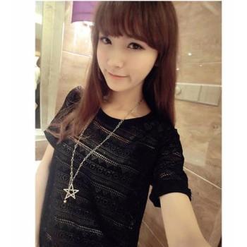 áo thun nữ hoa văn Mã: AK1301 - ĐEN