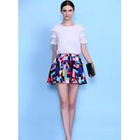 Set áo và chân váy ngắn họa tiết XY806