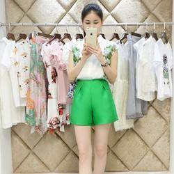 Set áo họa tiết và quần short cao cấp YW530