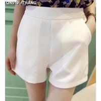 Quần short nữ lưng cao Mã: QN519 - TRẮNG