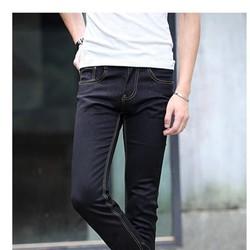 Quần jean nam skinny thun đen