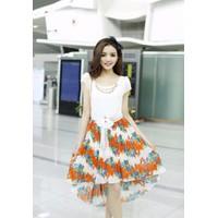 Đầm voan chân váy hoa bướm TADK2406