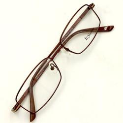 gọng kính cận Ice eyeware Icy718-C2 Anh quốc, gọng mắt kính inox nâu