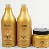 Bộ sản phẩm dầu gội - dầu xả - kem ủ - dầu dưỡng tóc Loreal Mythic Oil