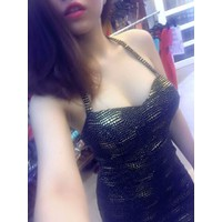 HÀNG NHẬP CAO CẤP - Đầm body cúp ngực ánh kim