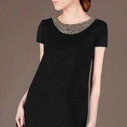 Đầm suông cổ kết cườm cao cấp - LV518