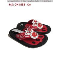 Dép Quai Kẹp Hình Bò Cười Cho Bé  - GK11188 - Màu Đỏ Đen